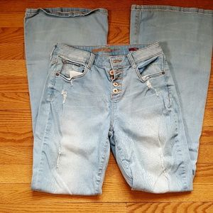 Arizona Blue Jeans Flare Size 9 Buttonfly